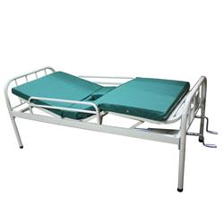 成都雄盛XS-038双摇病床(双摇带孔带床垫带护拦)