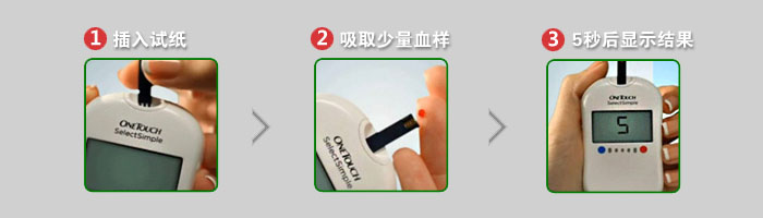 强生穏择型血糖仪使用步骤
