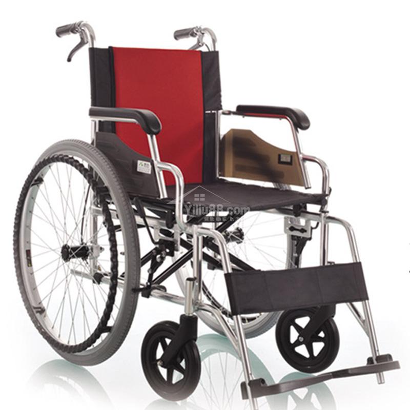 康尚铝合金软座轮椅AMW01型