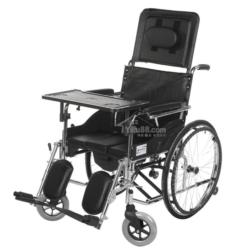 互邦钢管手动轮椅车系列HBG5-B型(半躺)