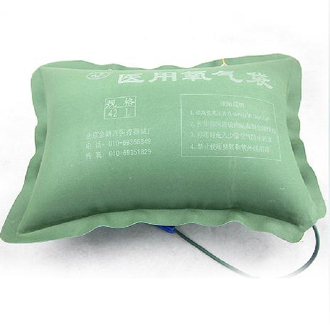 金新兴 42L大容量绿帆布带吸氧管氧气袋