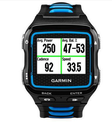 佳明 心率测量运动手表 蓝黑色