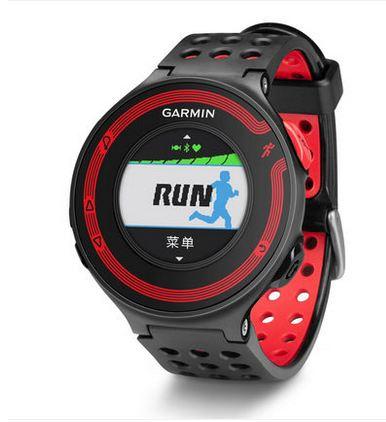 佳明 心率测量运动手表 红黑色