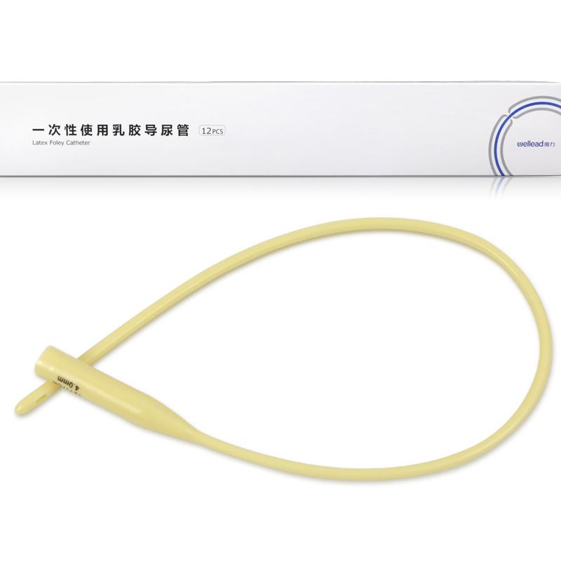 维力一次性乳胶单腔导尿管 12号