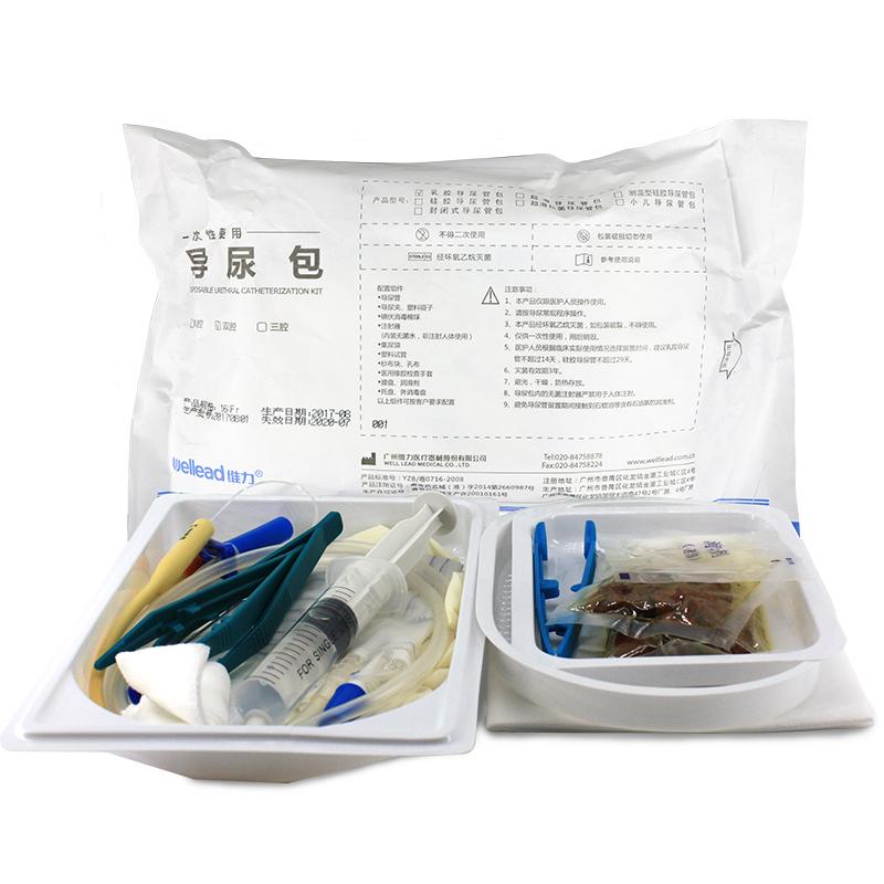 维力 一次性使用导尿包(配乳胶双腔12FR导尿管)