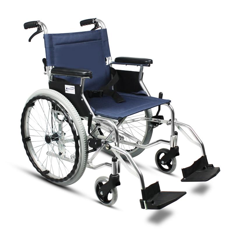 互邦轮椅车HBL35-SJZ20 蓝色空心胎