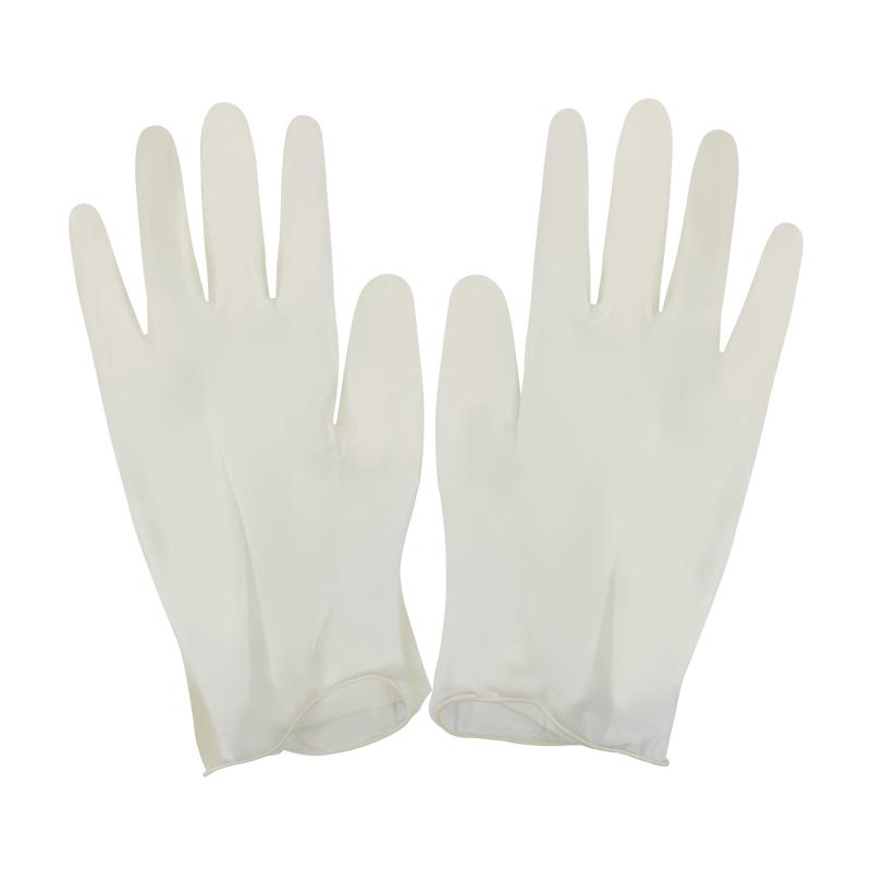 华晨一次性橡胶手套 橡胶型有粉 小号(S)