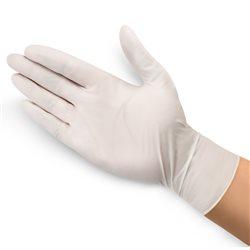 华晨一次性橡胶手套 橡胶型有粉 中号(M)