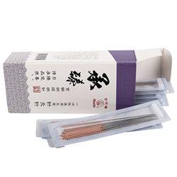 华佗一次性针灸针 承臻紫铜柄环柄针0.35*25mm 纸塑装*3盒