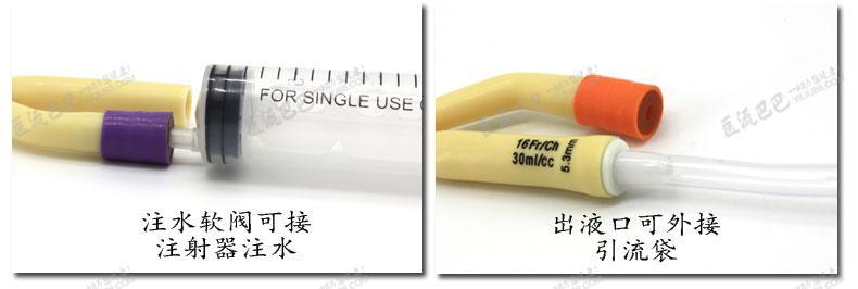 性使用乳胶导尿管 双腔标准型20号